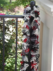 Red, Black, and White Ruffles